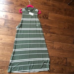 A green and white striped dress never worn